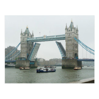 Tower Bridge and the river pageant Postcard