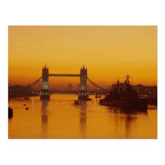Tower Bridge at dawn Postcard