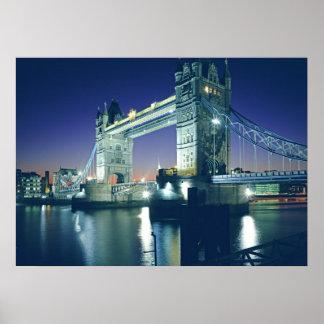Tower Bridge at Dusk Poster