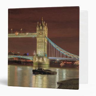 Tower Bridge at night, London 3 Ring Binders