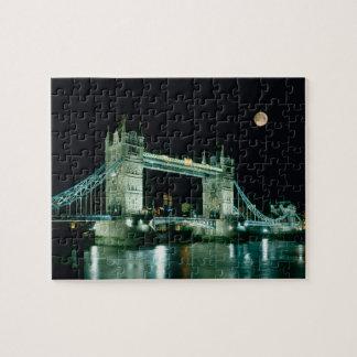 Tower Bridge at Night, London, England Jigsaw Puzzle