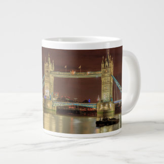 Tower Bridge at night, London Giant Coffee Mug