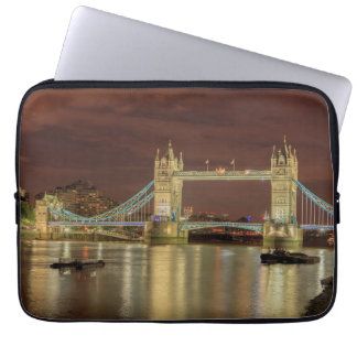 Tower Bridge at night, London Laptop Sleeve