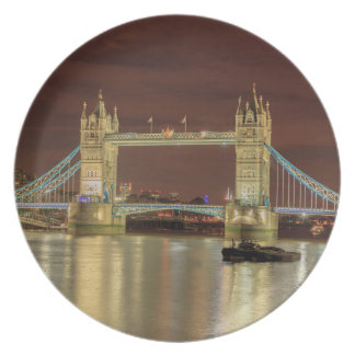 Tower Bridge at night, London Plate