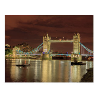 Tower Bridge at night, London Postcard