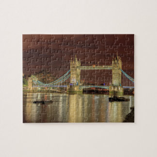 Tower Bridge at night, London Puzzle
