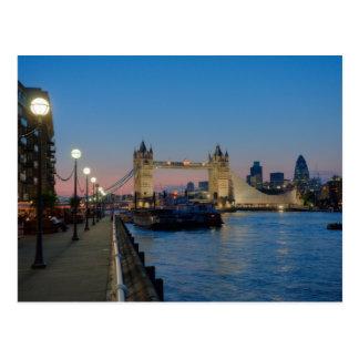 Tower Bridge at night Postcard