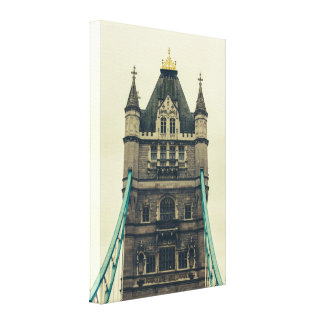 Tower Bridge Closeup, London, United Kingdom Canvas Print