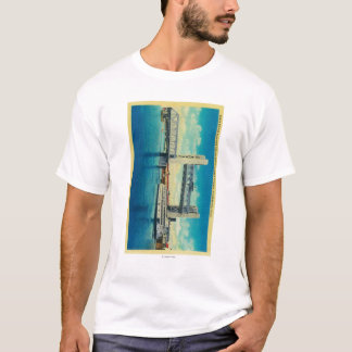 Tower Bridge Elevated for Sacramento River T-Shirt
