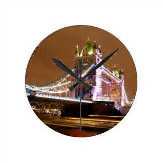 Tower Bridge Evening Round Clock