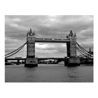 tower bridge in black and white postcard