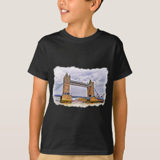Tower Bridge London, England Art design T-Shirt