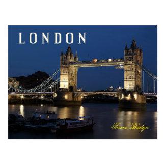 Tower Bridge, London, England at night Postcard