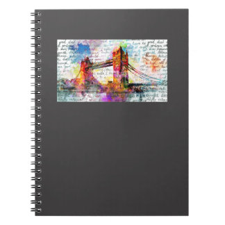 Tower Bridge, London, Sketchbook kind Spiral Notebook