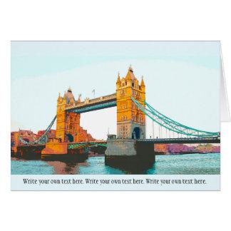 Tower Bridge, London, souvenir Card