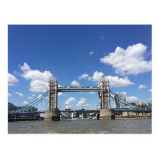 Tower Bridge London Thames River UK Photo Postcard