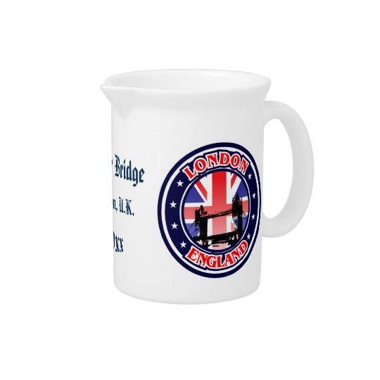 Tower Bridge - London, U.K. Beverage Pitcher