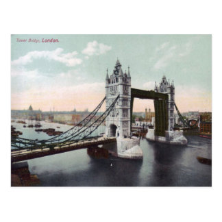 Tower Bridge London Vintage Postcard