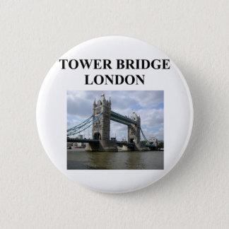 tower bridge ;ondon england 2 inch round button