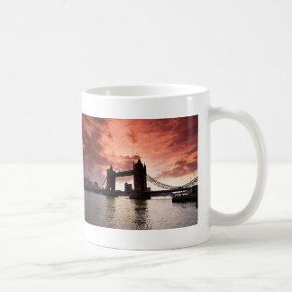 Tower Bridge Red Sky Mug
