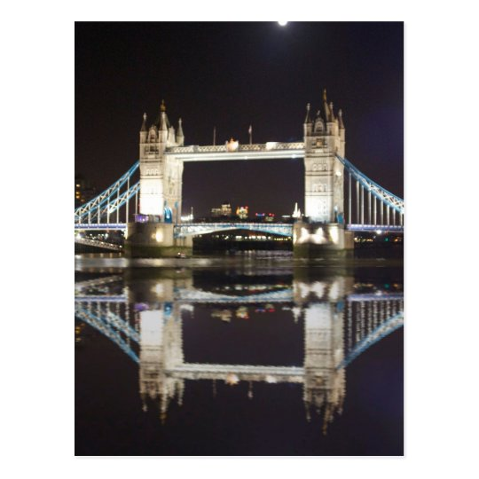 Tower Bridge Reflected Postcard