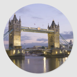 Tower Bridge River Thames London England Classic Round Sticker