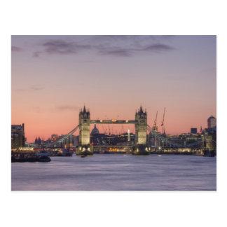 Tower Bridge Sunset Postcard