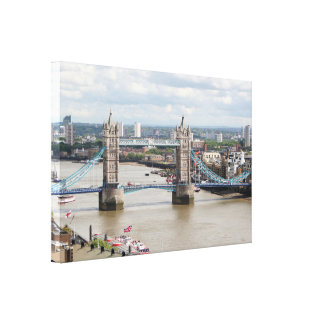Tower Bridge, Thames River, London, England Canvas Print