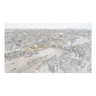Tower Bridge to Canary Wharf Photo Print