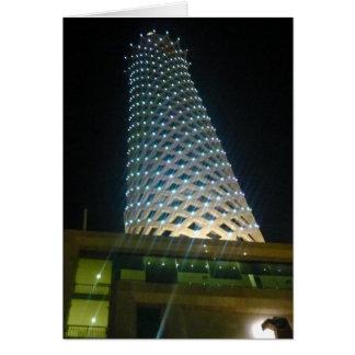 tower cairo high greeting card
