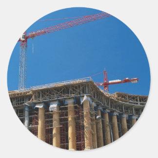 Tower crane, Washington, D.C., U.S.A. Classic Round Sticker