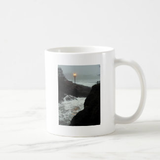 Tower in the Haze Mugs