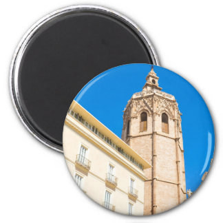 Tower in Valencia, Spain 2 Inch Round Magnet