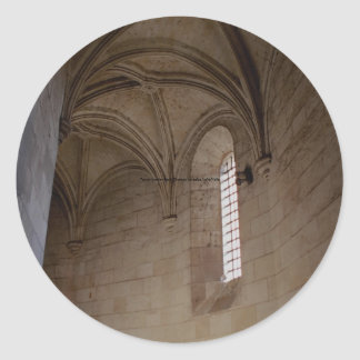 Tower interior, Royal Chateau Amboise, Loire Valle Round Stickers