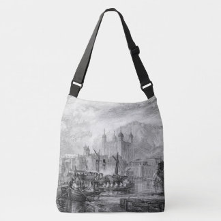 Tower London Boats Thames River Shoulder Tote Bag