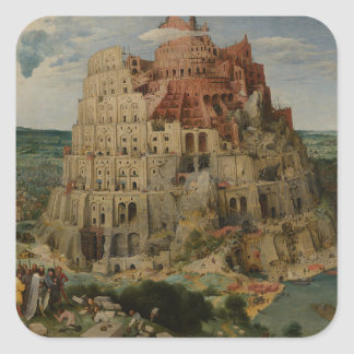 Tower of Babel by Pieter Bruegel the Elder, 1563 Square Sticker