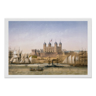 Tower of London, c.1862 (colour litho) Poster
