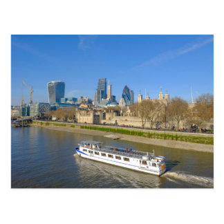 Tower of London, River Thames UK Postcard