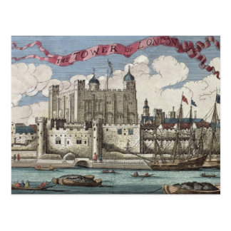 Tower of London Seen from the River Thames Postcard