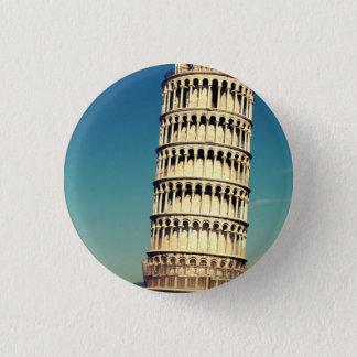 Tower of Pisa 1 Inch Round Button