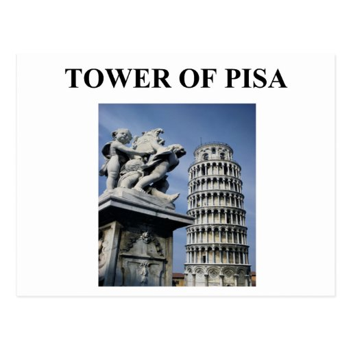 tower of pisa italy postcard