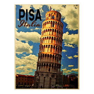 Tower Of Pisa ltaly Postcard