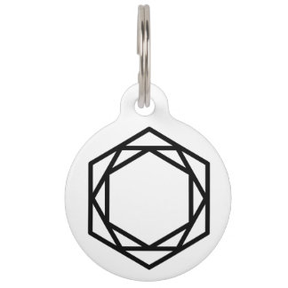 Tower (+/-) / Round Large Pet Tag