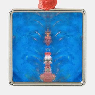 tower Silver-Colored square ornament