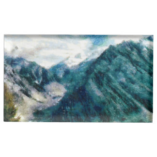 Towering Himalayan mountains Table Card Holder
