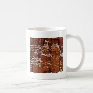 towers in the rocks tan coffee mug