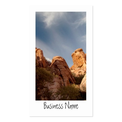 Towers of Red Rock; Promotional Business Card Template