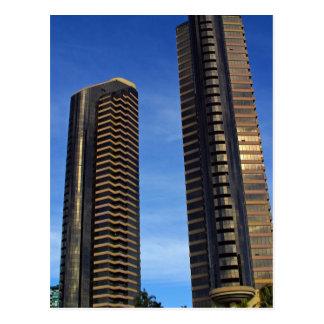 Towers Skyscrapers Buildings Postcard