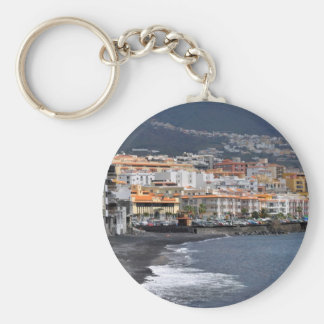 Town and beach of Candelaria at Tenerife Keychain