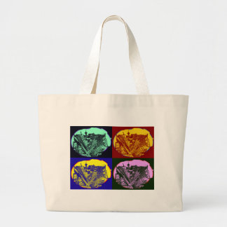 town center 3 POINT perspective pop kind styles Large Tote Bag